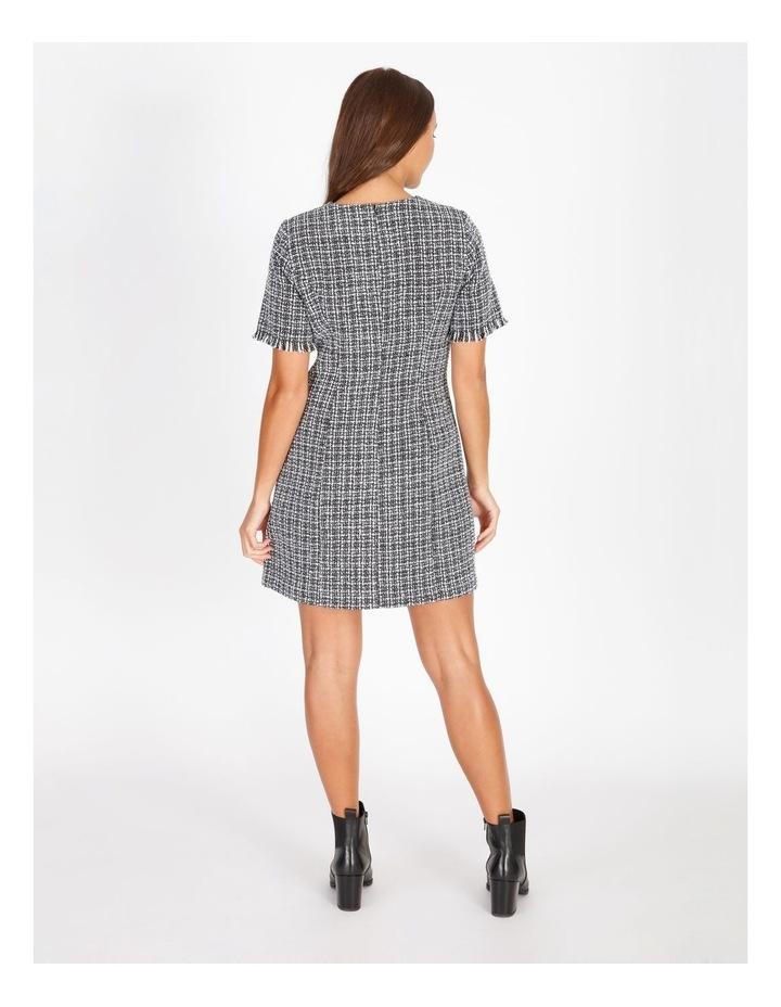 Boucle Power Shoulder Mini Dress image 3