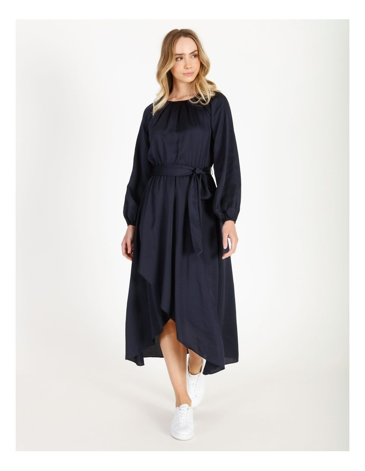 Satin Wrap Midi Dress image 1