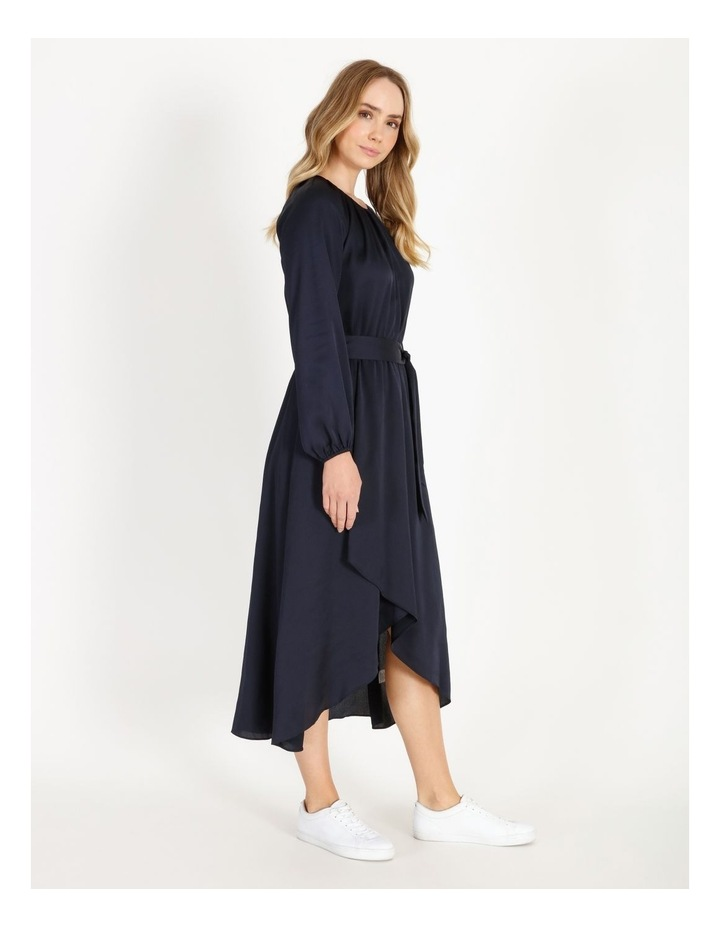 Satin Wrap Midi Dress image 2