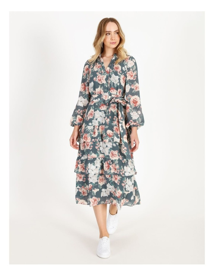 Tiered Floral Midi Dress image 1