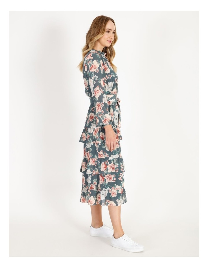 Tiered Floral Midi Dress image 2