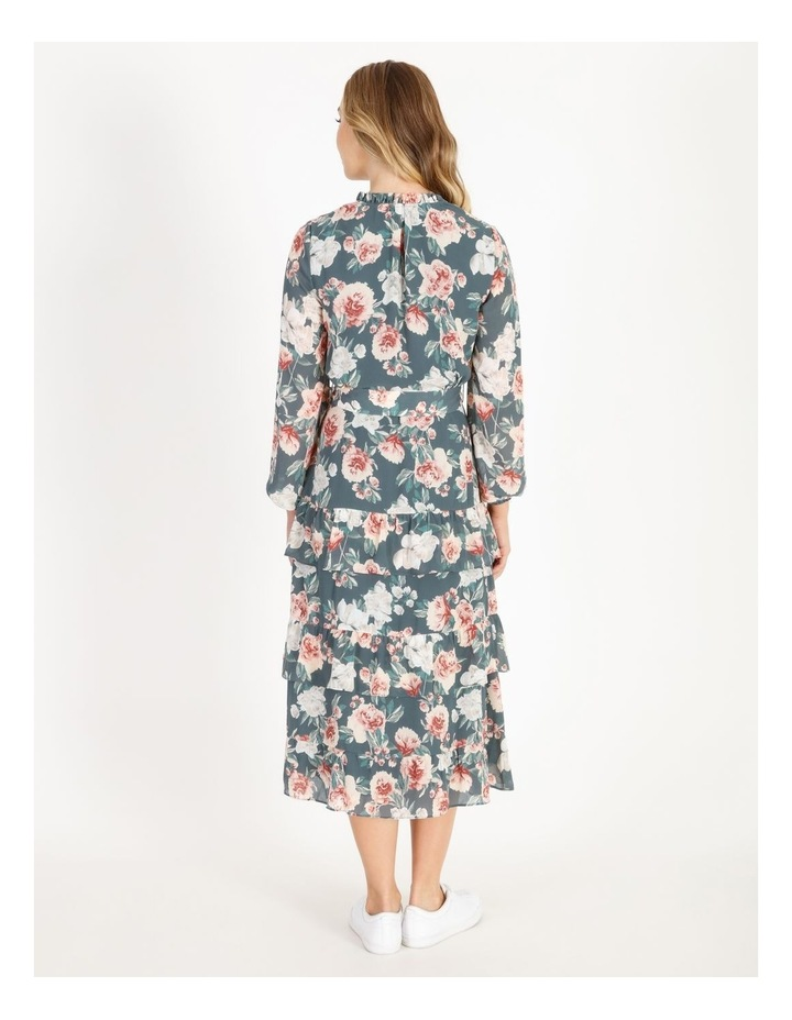 Tiered Floral Midi Dress image 3