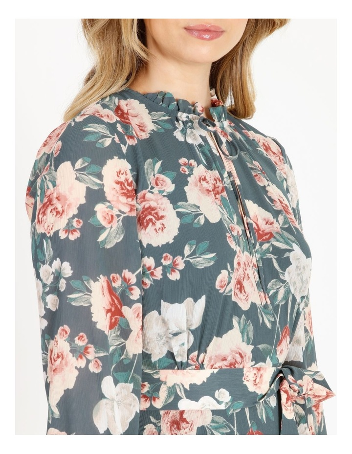 Tiered Floral Midi Dress image 4