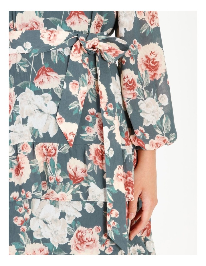 Tiered Floral Midi Dress image 5