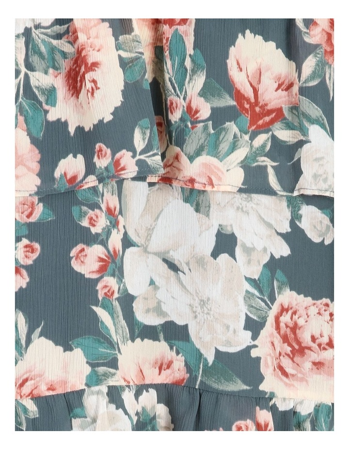 Tiered Floral Midi Dress image 6