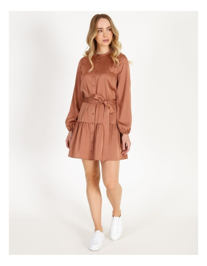 Satin Mini Shirt Dress image 1