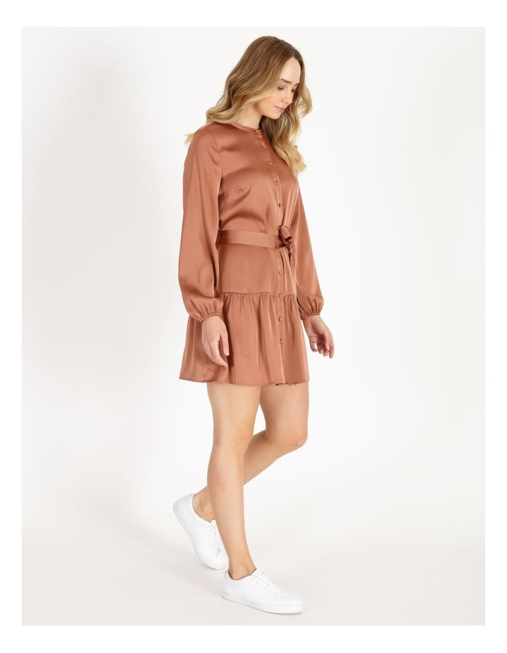 Satin Mini Shirt Dress image 2