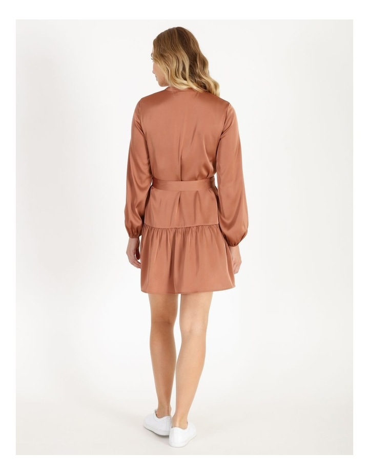 Satin Mini Shirt Dress image 3