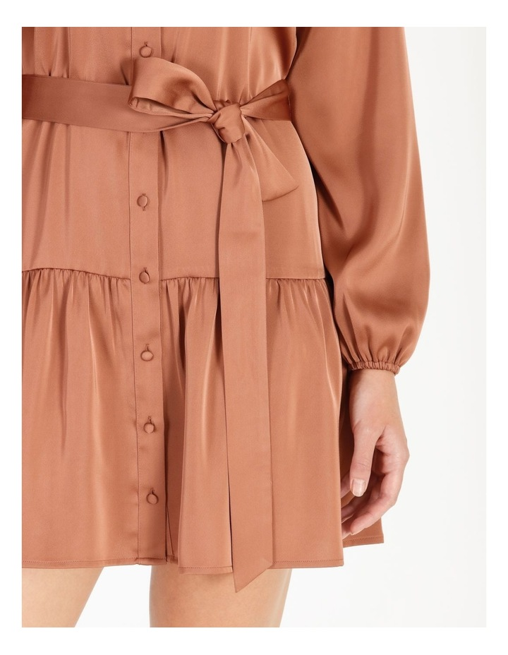 Satin Mini Shirt Dress image 4