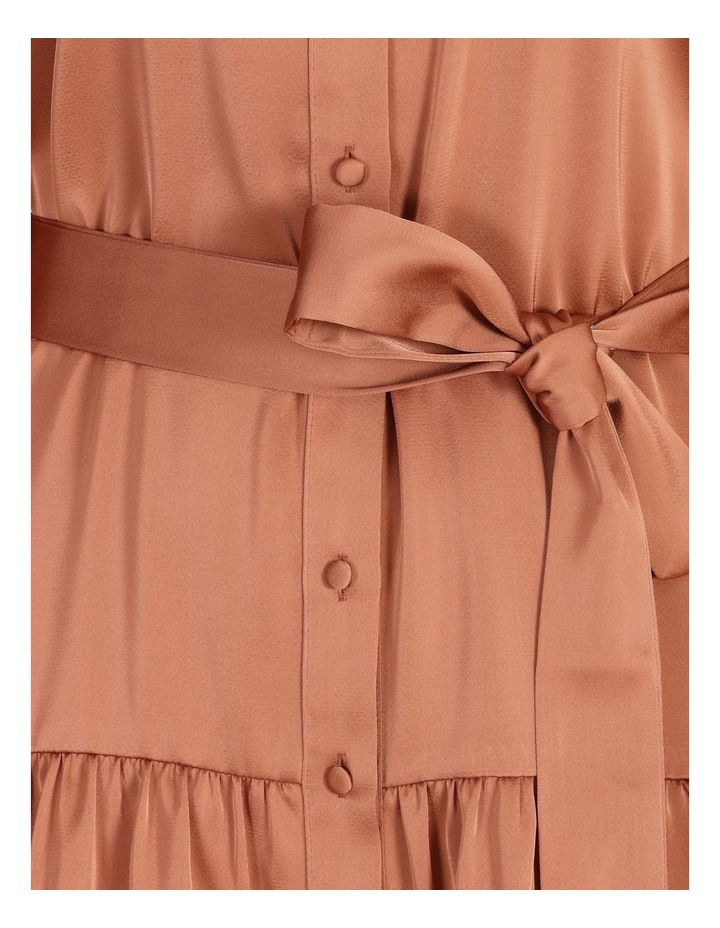 Satin Mini Shirt Dress image 5