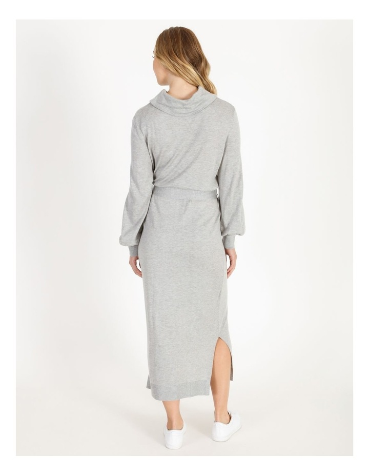 Blouson-Sleeve Wool Blend Knitted Dress image 3