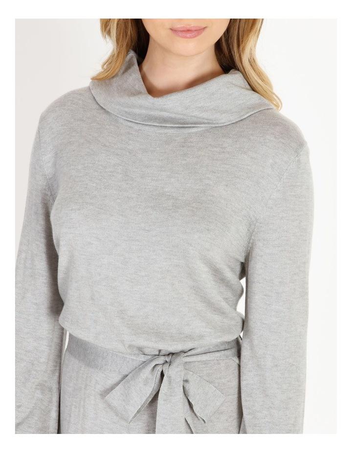Blouson-Sleeve Wool Blend Knitted Dress image 4