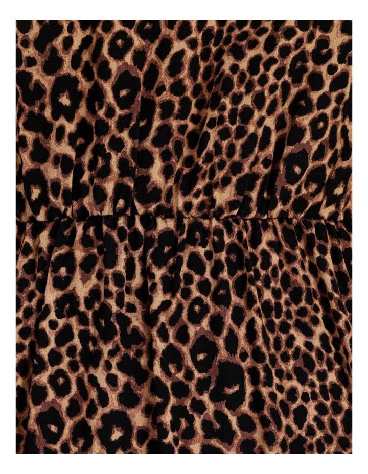 Crepe Blouson Sleeve Midi Dress image 7