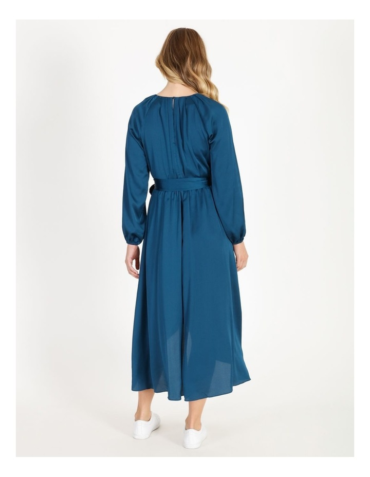 Satin Wrap Midi Dress image 3