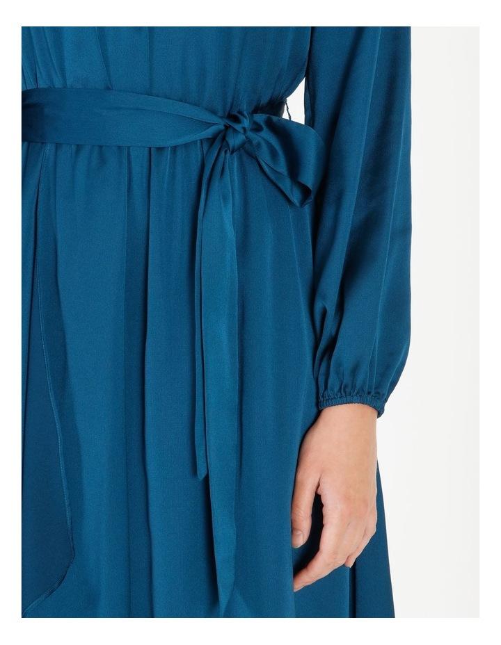 Satin Wrap Midi Dress image 4