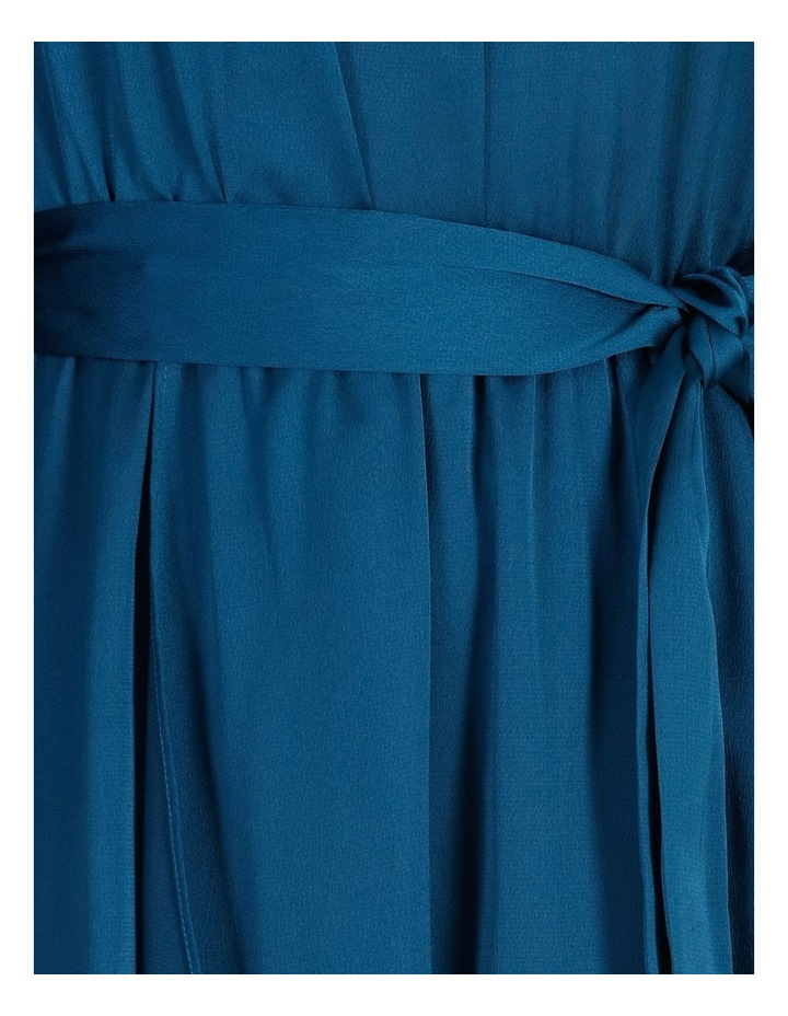 Satin Wrap Midi Dress image 5