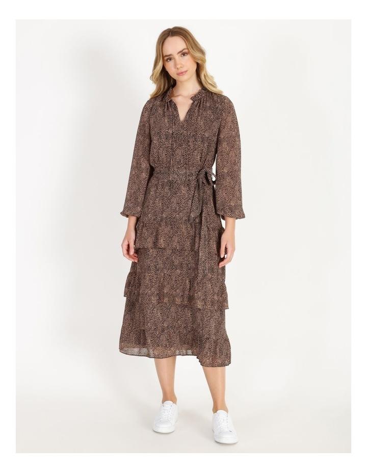 Tiered Jungle Midi Dress image 1