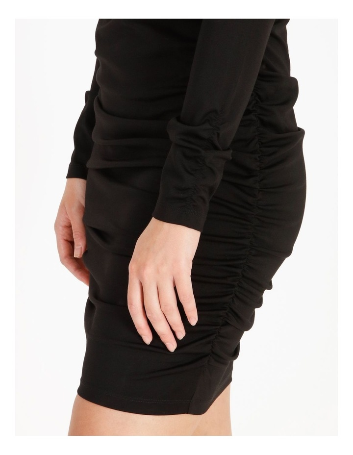 Long-Sleeve Ruched Jersey Dress image 4