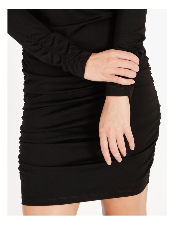 Long-Sleeve Ruched Jersey Dress image 5
