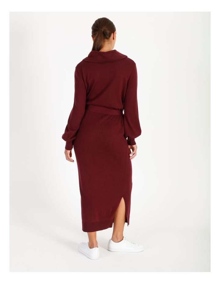 Blouson Sleeve Wool Blend Knitted Dress image 3