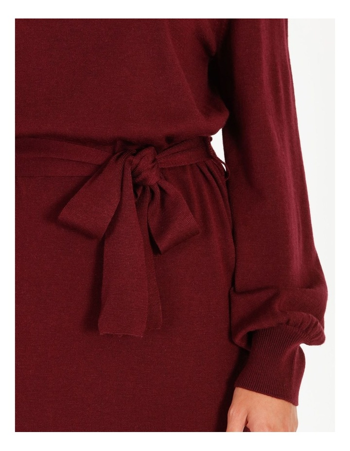 Blouson Sleeve Wool Blend Knitted Dress image 5