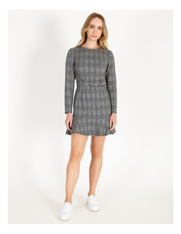 Long-Sleeve Fit & Flare Dress image 1
