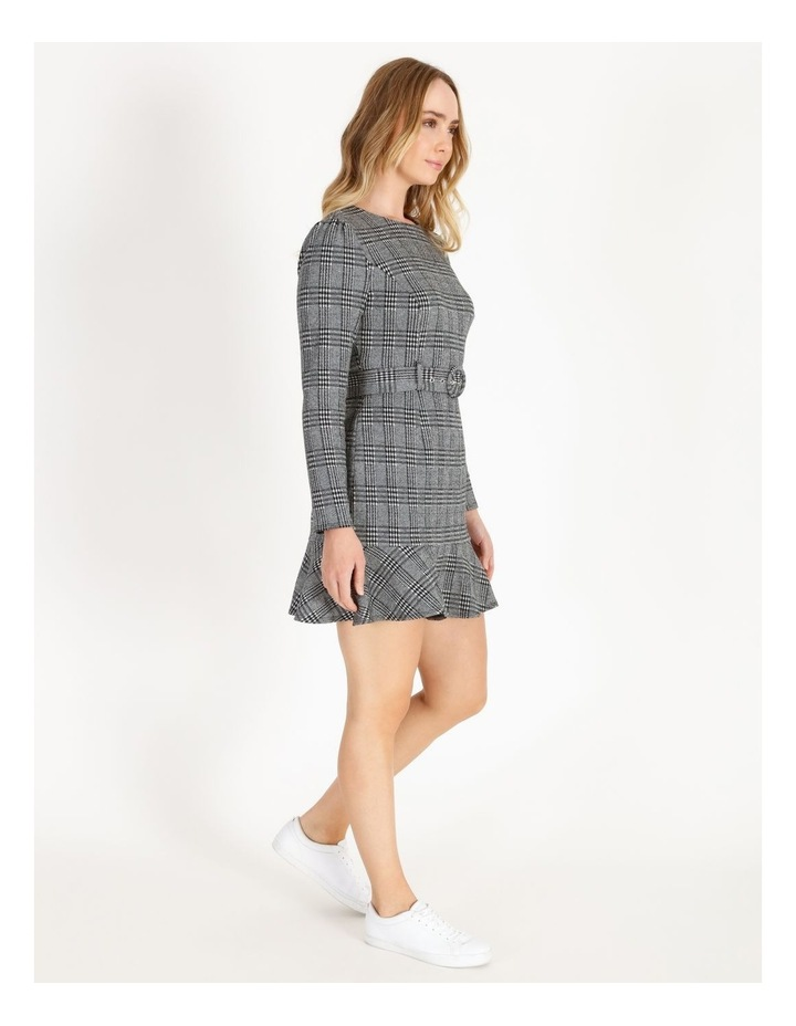 Long-Sleeve Fit & Flare Dress image 2