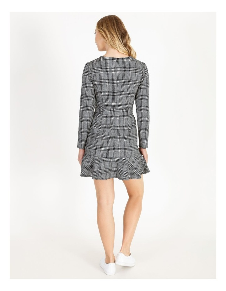 Long-Sleeve Fit & Flare Dress image 3