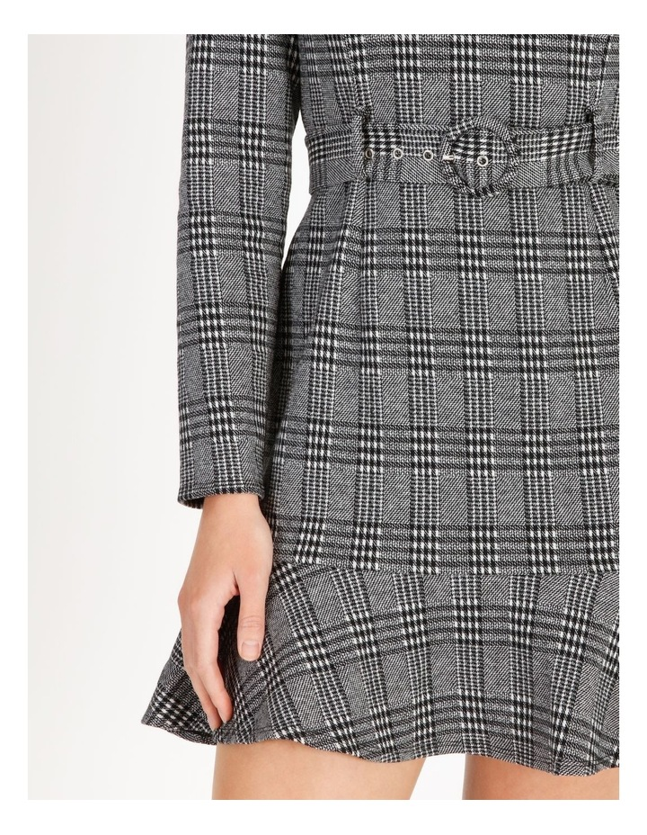 Long-Sleeve Fit & Flare Dress image 4