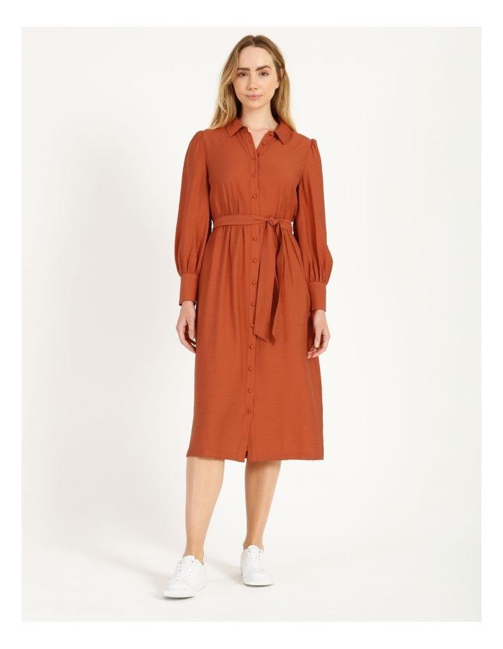 Blousson Midi Shirt Dress image 1