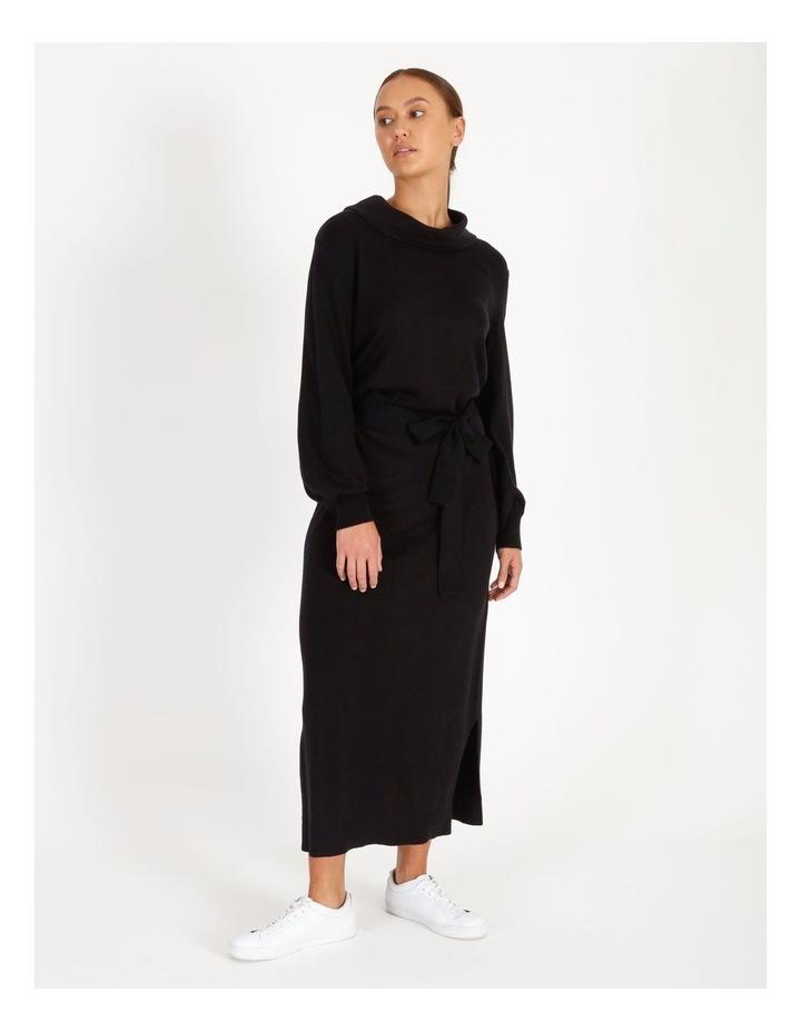 Blouson Sleeve Wool Blend Knitted Dress image 1