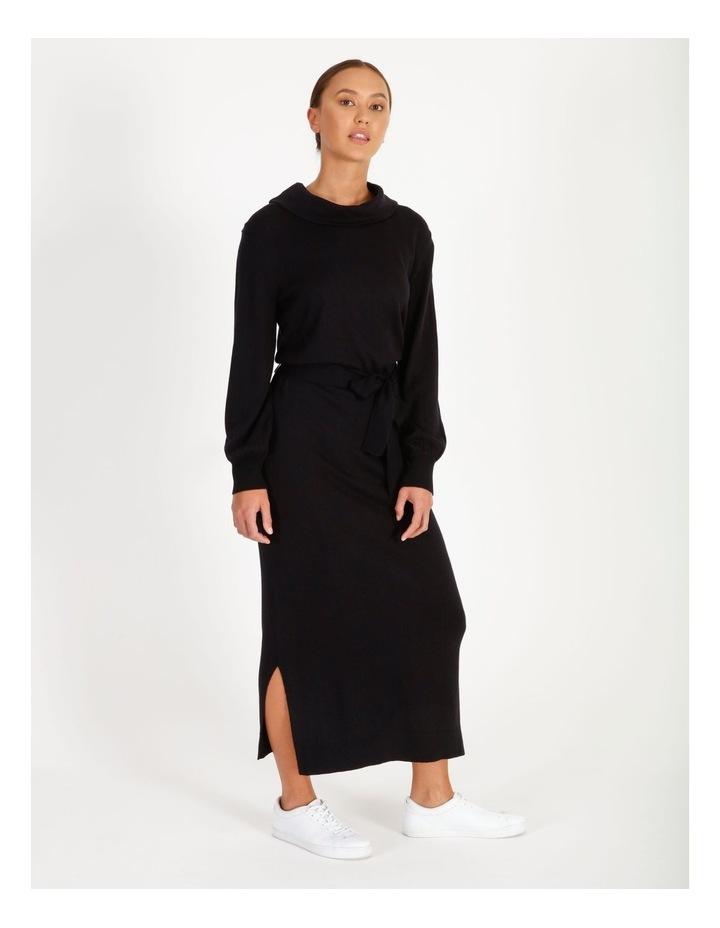 Blouson Sleeve Wool Blend Knitted Dress image 2