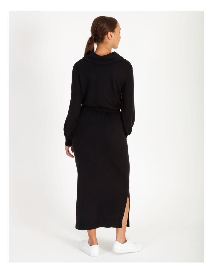 Blouson Sleeve Wool Blend Knitted Dress image 3