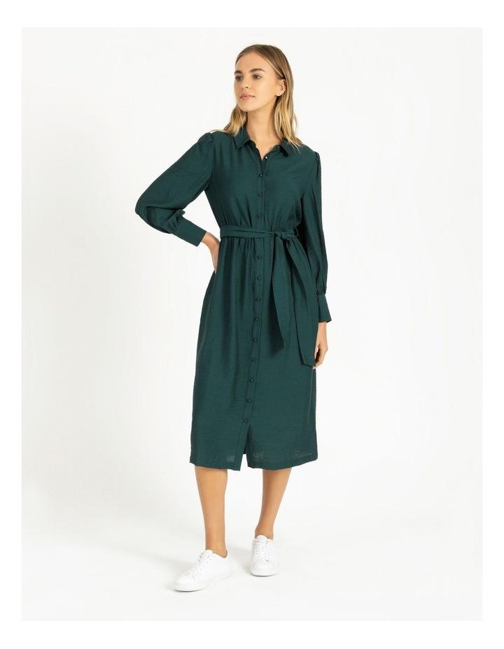Blouson Midi Shirt Dress image 1