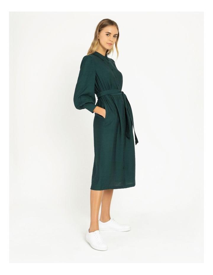 Blouson Midi Shirt Dress image 2