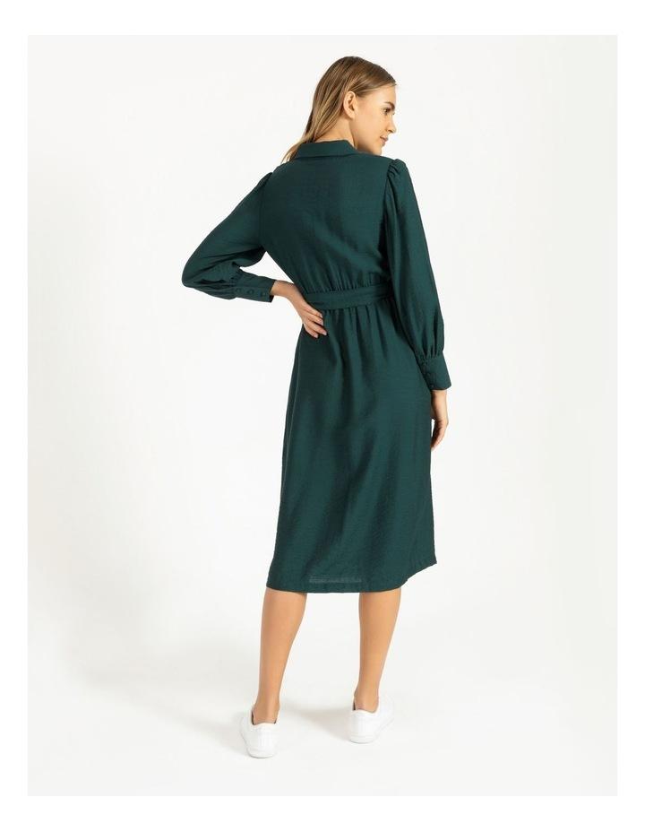 Blouson Midi Shirt Dress image 3
