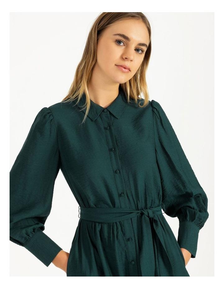 Blouson Midi Shirt Dress image 4