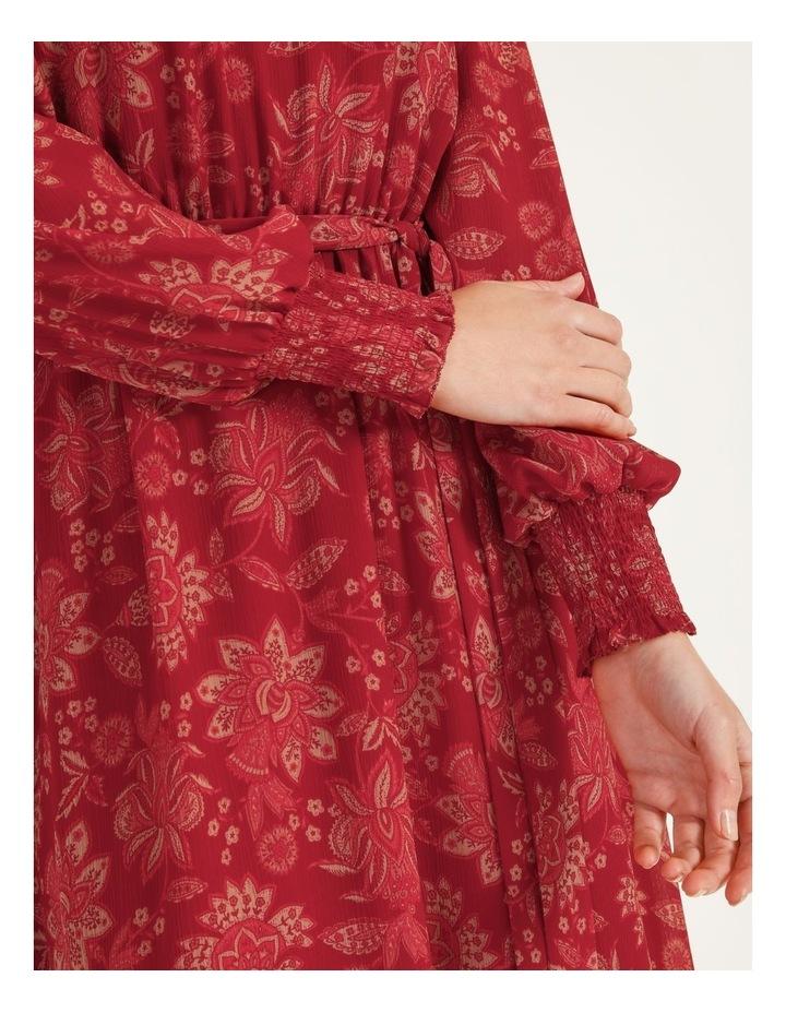 High Neck Shirred Midi Dress image 5
