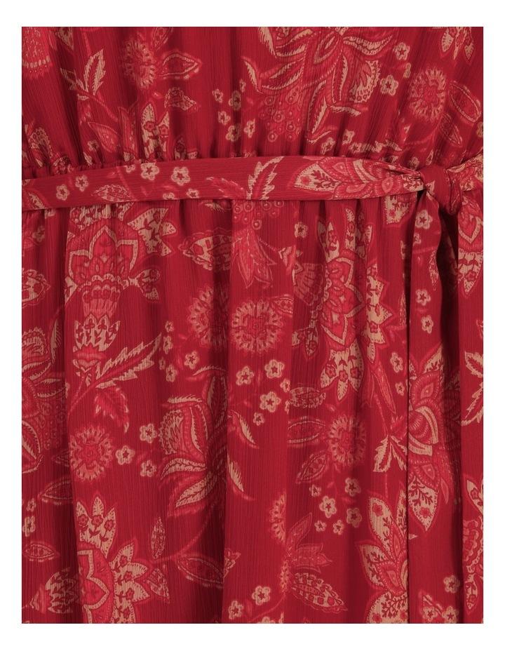 High Neck Shirred Midi Dress image 6