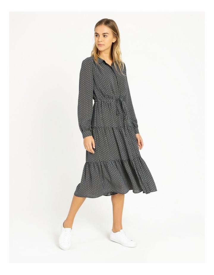 Blouson Sleeve Printed Shirt Dress image 2