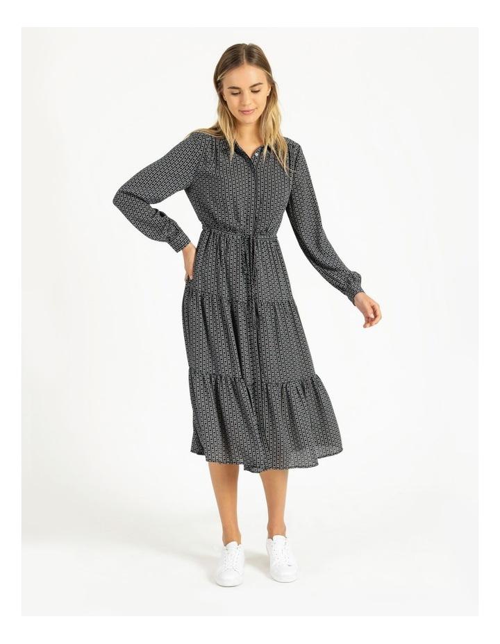 Blouson Sleeve Printed Shirt Dress image 4