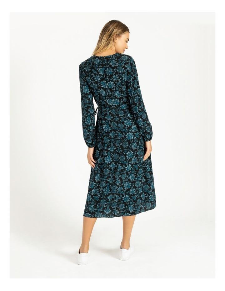 Blouson Sleeve Wrap Midi Dress image 3