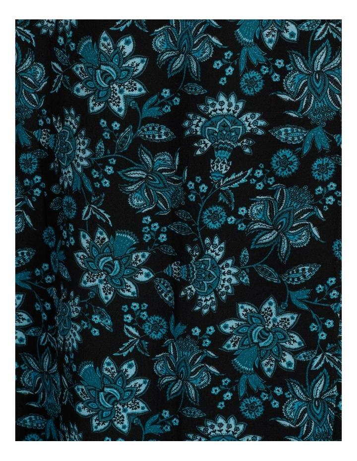Blouson Sleeve Wrap Midi Dress image 6