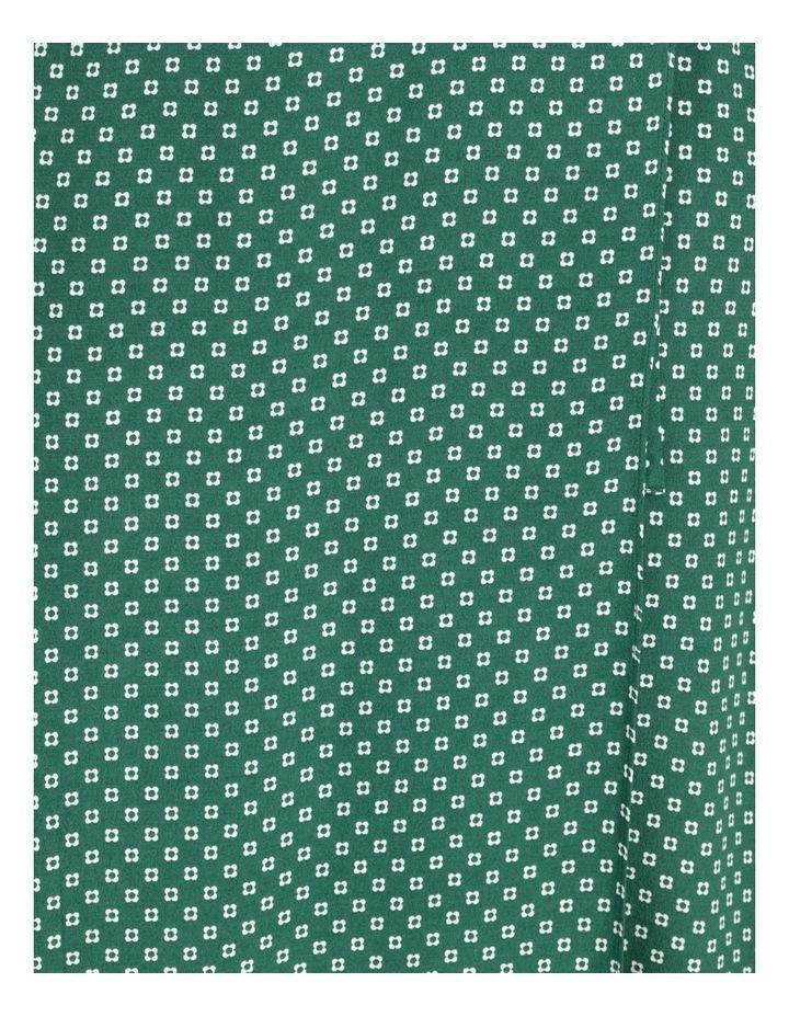 Blouson Sleeve Wrap Midi Dress image 7