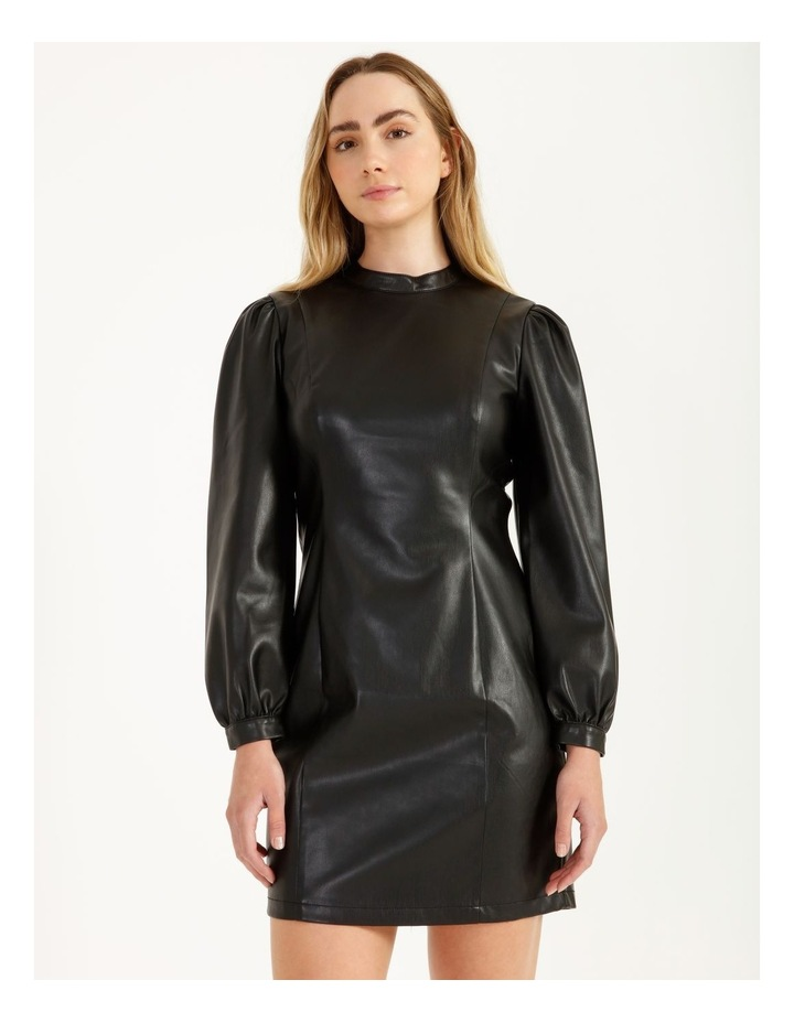 Statement Faux Leather Dress image 1