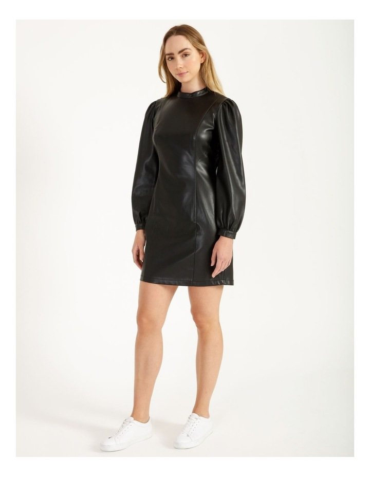 Statement Faux Leather Dress image 2