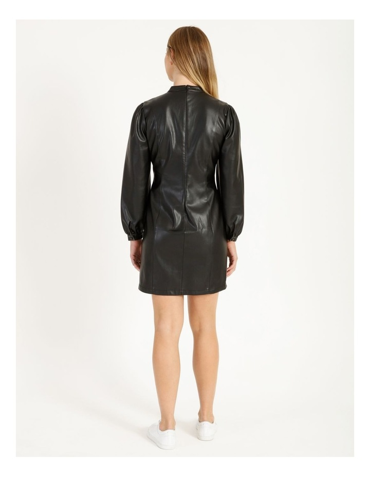 Statement Faux Leather Dress image 3