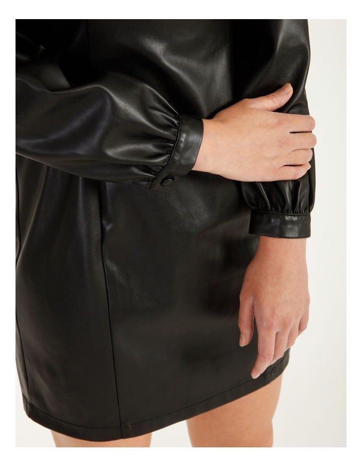 Statement Faux Leather Dress image 5