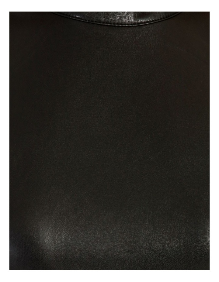 Statement Faux Leather Dress image 6