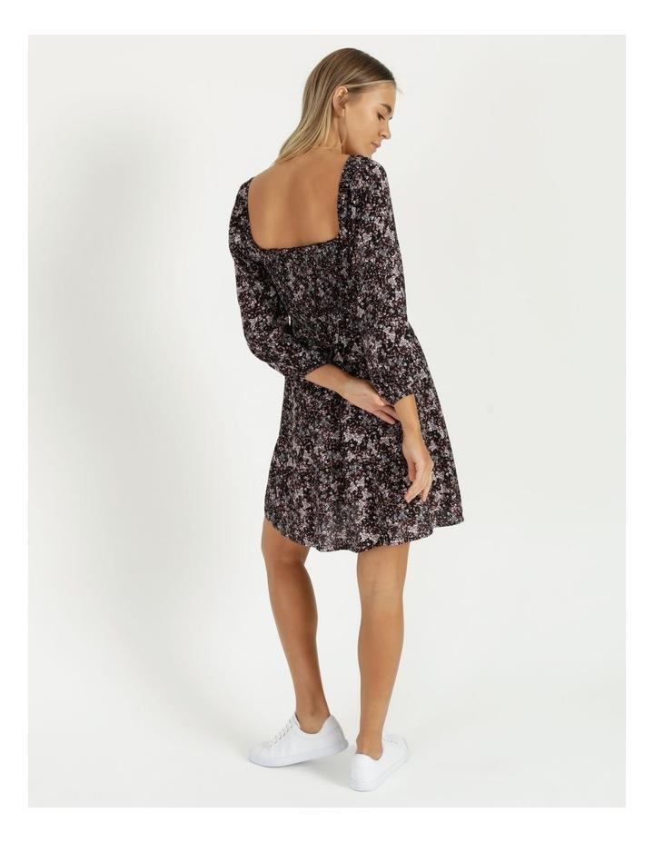 Puff Sleeve Shirred Mini Dress image 5